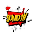 Comic red sound effects pop art Sunday week end vector image vector image