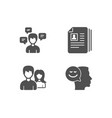 conversation messages cv documents and couple vector image