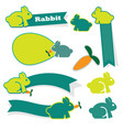 cute rabbit icon on white background vector image vector image