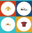 flat garment set of elegant headgear sneakers t vector image vector image