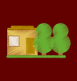 flat icon in shading style house and garden vector image