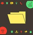 folder icon symbol vector image vector image