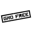 Gmo free rubber stamp vector image