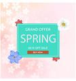 grand offer spring 60 off sale sakura background vector image