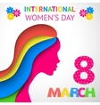 Happy Womens Day greeting or gift card vector image vector image