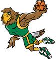 hawk basketball logo mascot vector image vector image