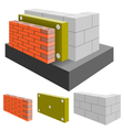 house wall vector image