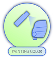icons and symbols of car parts - painting color vector image vector image