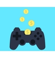 Investment in video games vector image vector image
