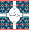 invitation card with vintage spanish pattern vector image vector image
