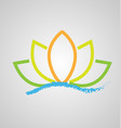 lotus flower on water icon logo design vector image