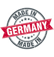 made in Germany red round vintage stamp vector image vector image