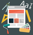 Modern flat design icons on design development vector image vector image