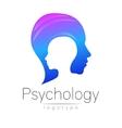 Modern head logo of Psychology Profile Human vector image vector image