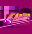 modern speed subway underground train vector image vector image