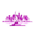 new york city emblem vector image