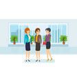 office employees in strict business clothes vector image vector image