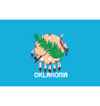 Oklahoma flag vector | Price: 1 Credit (USD $1)