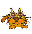 orange cartoon kitten vector image