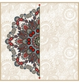 ornamental template with circle floral background vector image vector image