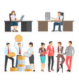people at work collection of cartoon vector image