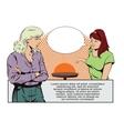 People in retro style pop art Talking girls vector image vector image