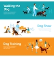 People With Dogs Banner Set vector image vector image