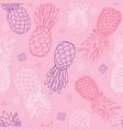 pink purple pineapples doodle texture vector image vector image