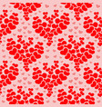 seamless pattern - heart shapes vector image