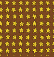 seamless pattern with yellow cartoon stars vector image vector image
