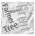 Selling at Farmers Markets Word Cloud Concept vector image vector image