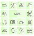 service icons vector image vector image
