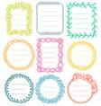 set doodle frames for bullet journal vector image