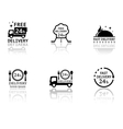 set of food delivery icons vector image