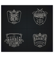 Set of four retro emblems for Barber Shop vector image vector image