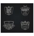 Set of four retro emblems for Barber Shop vector image vector image