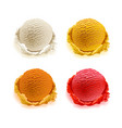 set of ice cream scoops of different colors and vector image vector image