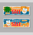 set summer sale banners vector image vector image