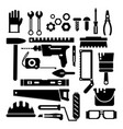 silhouette of construction or repair tools vector image vector image