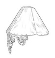 sketch of sconce vector image vector image