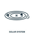 solar system icon flat style icon design ui vector image vector image