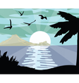 Summer Night Beach view Card vector image