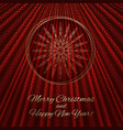 this is a red and gold christmas background vector image
