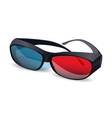 three D glasses vector image vector image