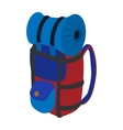Travel backpack cartoon icon vector image