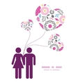 vibrant floral scaterred couple in love vector image