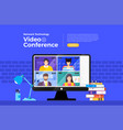 video conference 14 vector image vector image