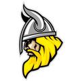 viking head mascot vector image vector image
