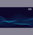 waves with particles on dark background vector image vector image
