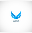 wing fly company logo vector image vector image